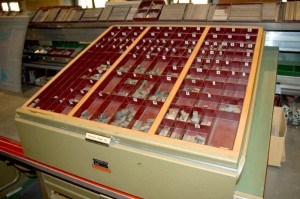 Upper and lower case printers type